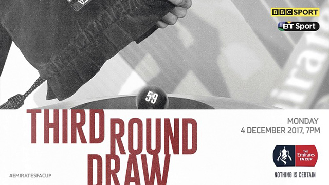 Join us in Bradleys Sports Bar tomorrow evening for the historic Emirates FA Cup Third Round draw!        The Coasters, ball number 59, sealed their place in the hat with a 1-1 draw against League One pace-setters Wigan Athletic and now face a replay at the DW Stadium. Details of the replay...